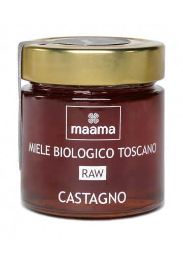 Maama Organic Raw Italian Chestnut Honey from Tuscany